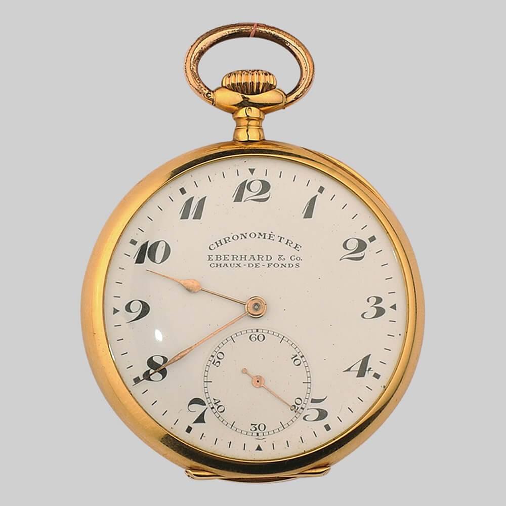06541251 Часы карманные золотые Eberhard & Co с хронометром