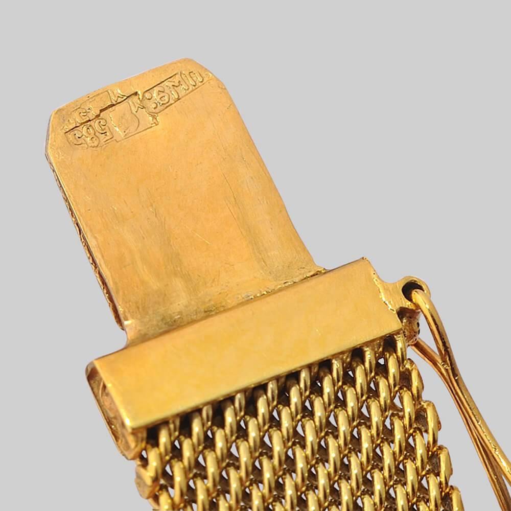 Купить золотой браслет для часов женский
