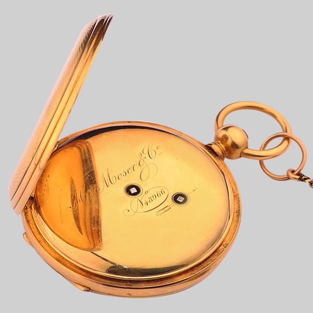 Стоимость часы золотые мозер карманные билет за час поезда сдать до